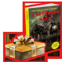 A Rettegés háza könyv ajándékkal